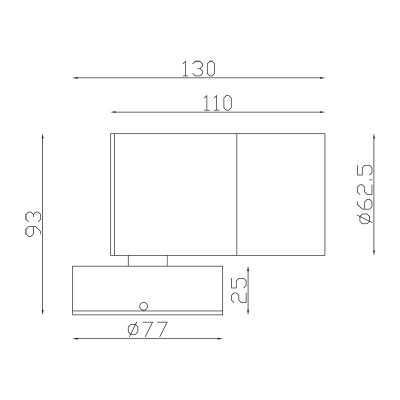 316 Stainless Steel Exterior Fixed Down Dimensions - EXTFD316