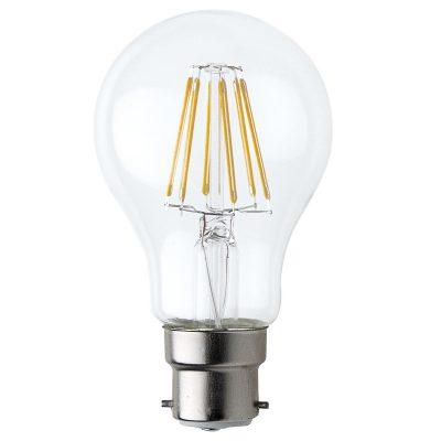 A19 B22 6W LED Globe Clear - LEDA196WB22CL - PW - CW - WW