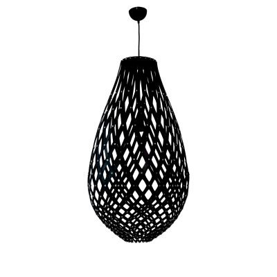Ovaloid 300 Black Pendant Light - P1109OVA30BLK