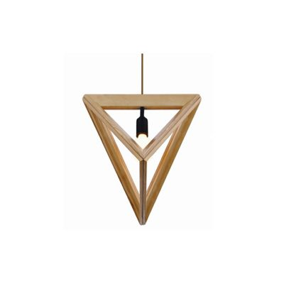 Pyramid 370 Wooden Pendant Light - P1046PYRAMID370