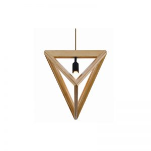 Pyramid 400 Wooden Pendant Light - P1044PYRAMID400