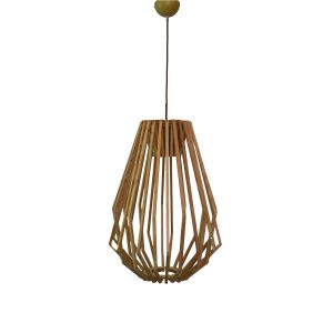 Web 400 Wooden Pendant Light - P1086WEBWDN