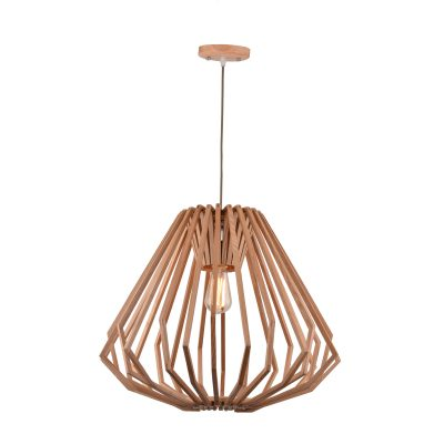 Web 550 Wooden Pendant Light - P1059WEB550