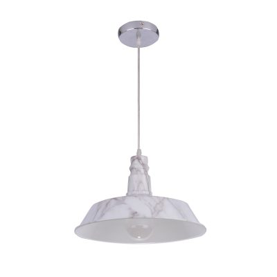 Flare 370 Marble Look 1 Light Pendant - P1236FLAMARBLE