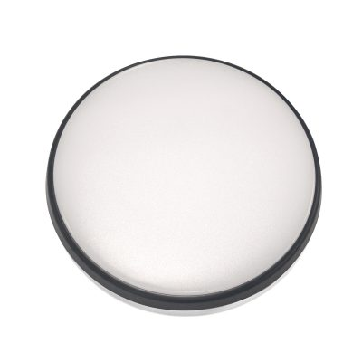 Round 18W LED Ceiling Light - Black Frame in Warm White - LEDOYS18WRNDBLWW