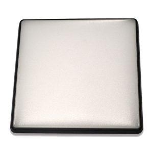 Square 18W LED Ceiling Light - Black Frame in Warm White - LEDOYS18WSQRBLWW