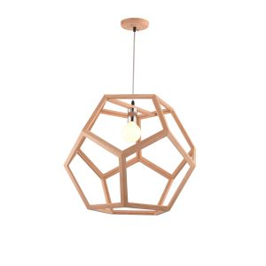 Cage 550 Wooden Pendant Light - P1230CAGE55WDN