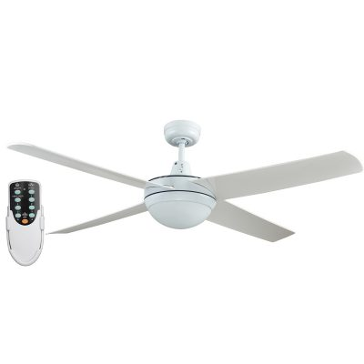 Rotor LED Light 52'' White Ceiling Fan with ABS Blades + Remote - ROTORW2 - Rem