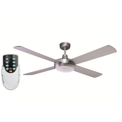 Rotor 52'' LED Light Silver Ceiling Fan + Remote - ROTOR52SIL - Rem