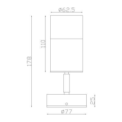 316 Stainless Steel Exterior Single Adjustable Dimensions - EXTSA316