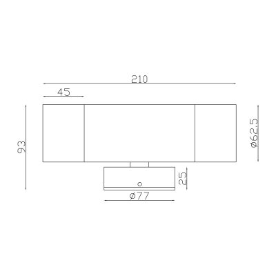 316 Stainless Steel Exterior Up and Down Dimensions - EXTUpDwn316