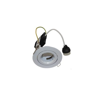 90mm Gimble Downlight Frame White GU10 - DL90WHGU10