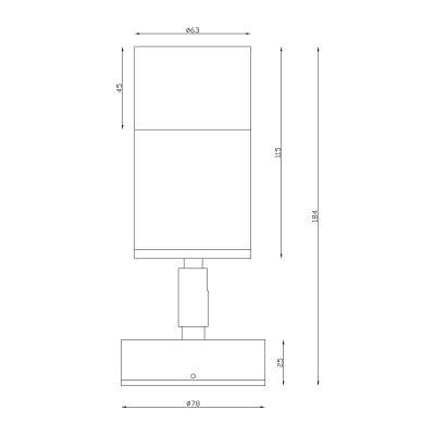Aluminium Black Exterior Single Adjustable Dimesions - EXTSABLK