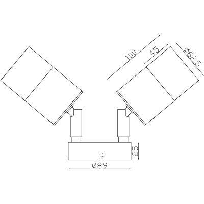 Anodized Aluminium Exterior Double Adjustable Dimesions - EXTDAAA