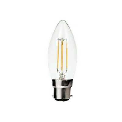 Candle B22 4W LED Globe Clear - LEDCAN4WB22CL - PW - CW - WW