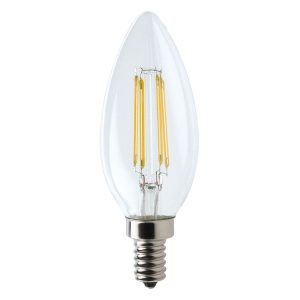 Candle E14 4W LED Globe Clear - LEDCAN4WE14CL - PW - CW - WW