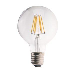 G95 E27 6W LED Globe Clear - LEDG956WE27CL - PW - CW - WW
