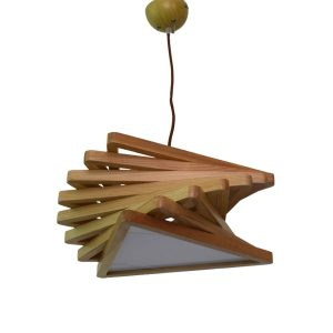 Geo 400 Wooden Pendant Light - P1084GEOWDN