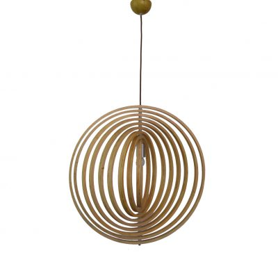 Helical 300 Wooden Pendant Light - P1209HEL30WDN