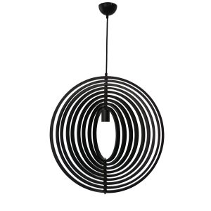 Helical 600 Black Pendant Light - P1214HEL60BL