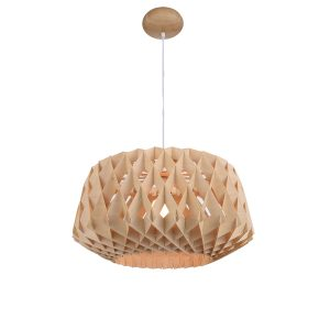 Hive 600 Wooden Pendant Light - P1019HIVE600