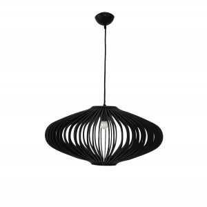 Jaafar 360 Black Pendant Light - P1115JAA36BLK