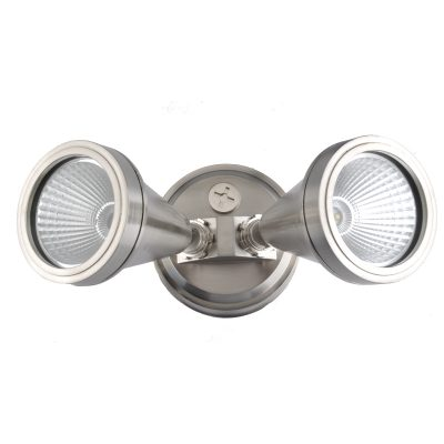 LED Double Brushed Chrome Exterior Spot Light - ledsptdblbch