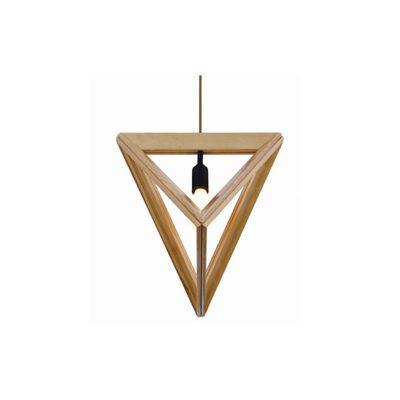 Pyramid 370 Wooden Pendant Light - P1046PYRAMID370
