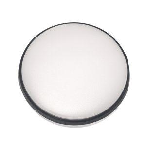Round 18W LED Ceiling Light - Black Frame in Warm White - LEDOYS18WRNDBLWW