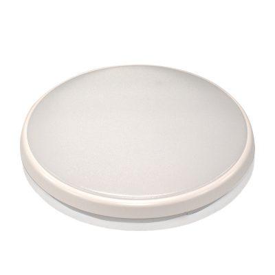 Round 28W LED Ceiling Light - White Frame in Warm White - LEDOYS28WRNDWHWW