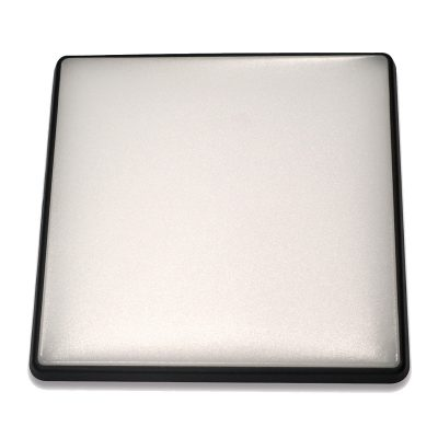 Square 18W LED Ceiling Light - Black Frame in Warm White - LEDOYS18WSQRBLWW