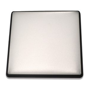 Square 28W LED Ceiling Light - Black Frame in Cool White - LEDOYS28WSQRBLCW