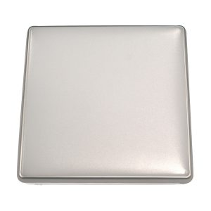 Square 28W LED Ceiling Light - Silver Frame in Cool White - LEDOYS28WSQRSILCW