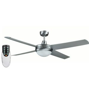 Rotor LED Light 52'' Brushed Aluminum Ceiling Fan with ABS Blades + Remote - ROTORS2 - Rem